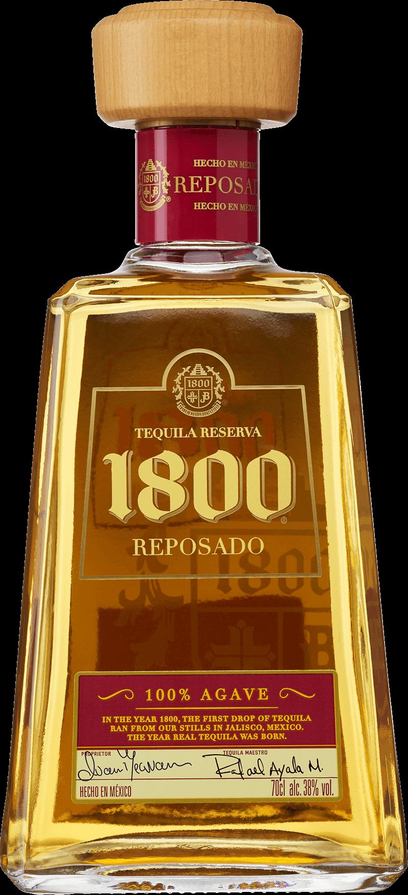 1800 Reposado . En Tequila och Mezcal av typen Tequila i en 700 Flaska från