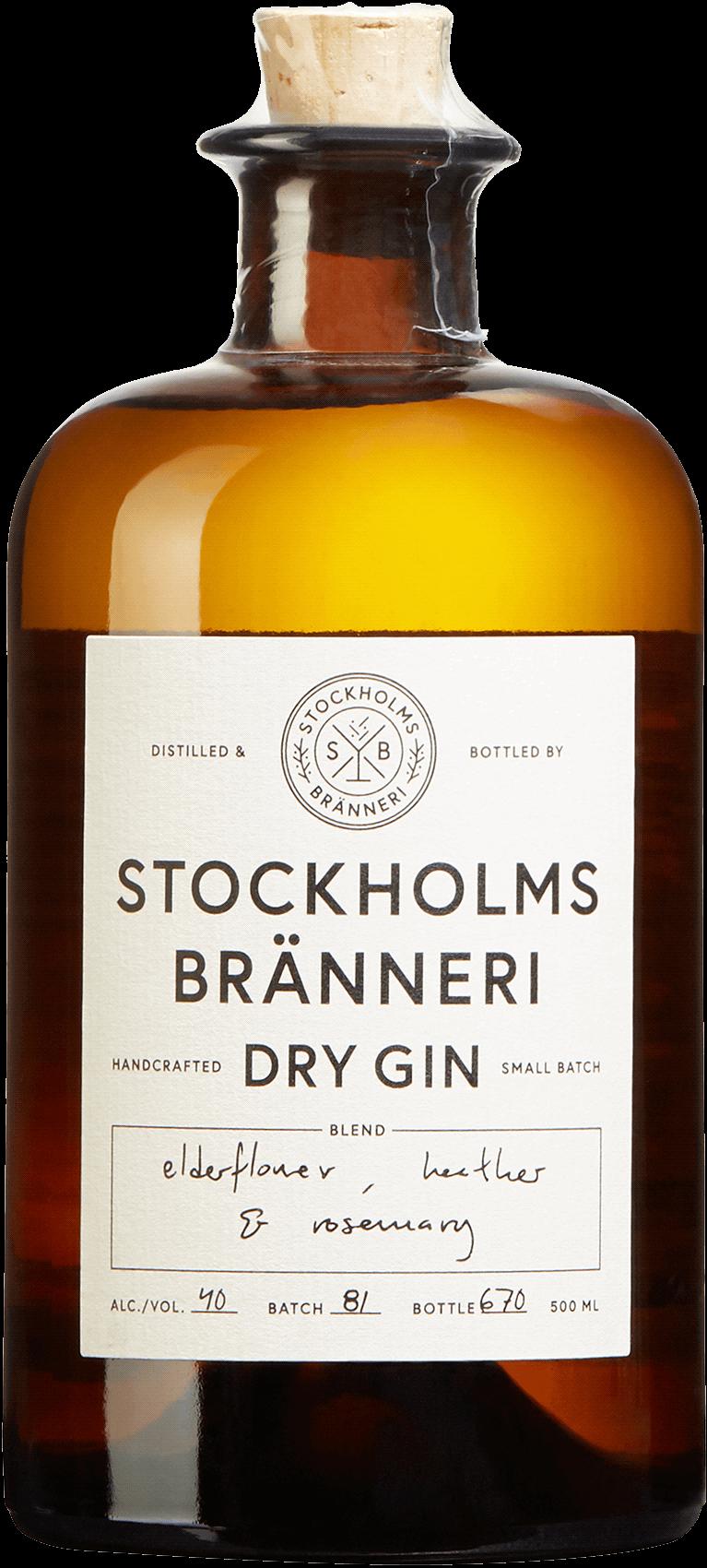 AB Stockholms Bränneri Dry Gin. En Gin och Genever av typen Gin i en 500 Flaska från Stockholms län