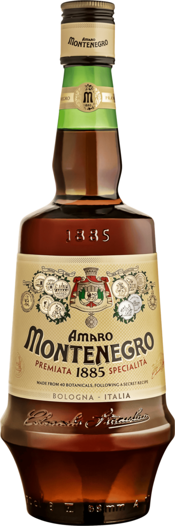 Amaro Montenegro. En Bitter av typen  i en 700 Flaska från