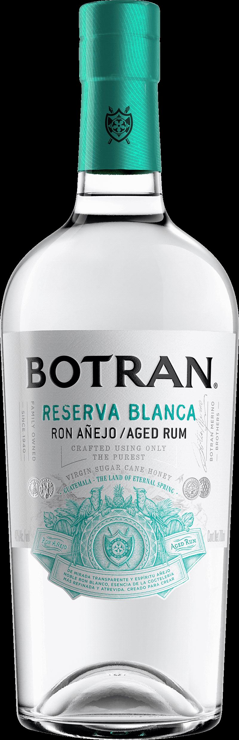 Botran Reserva Blanca. En Rom av typen Ljus rom i en 700 Flaska från