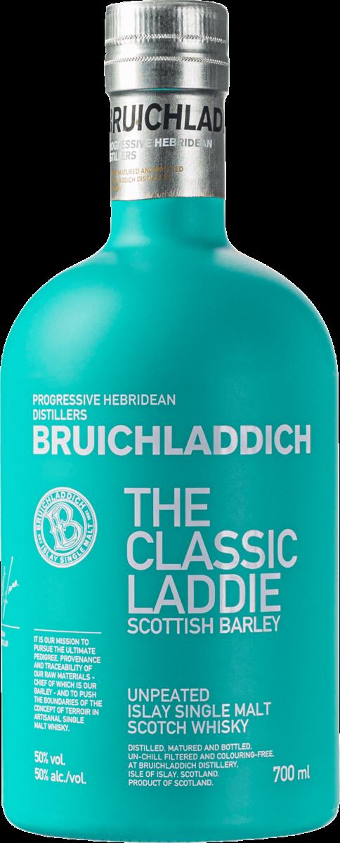 Bruichladdich Scottish Barley The Classic Laddie. En Whisky av typen Maltwhisky i en 700kr Flaska från Skottland