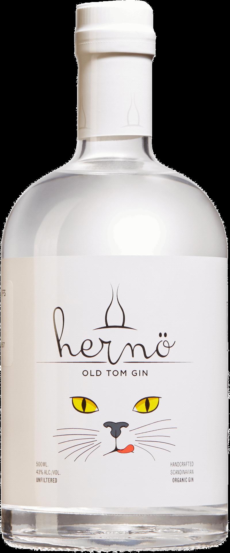 Hernö Old Tom Gin. En Gin och Genever av typen Gin i en 500 Flaska från Västernorrlands län