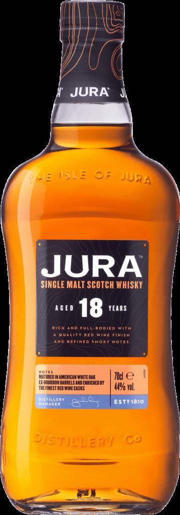 Jura 18 Years. En Whisky av typen Maltwhisky i en 700 Flaska från Skottland