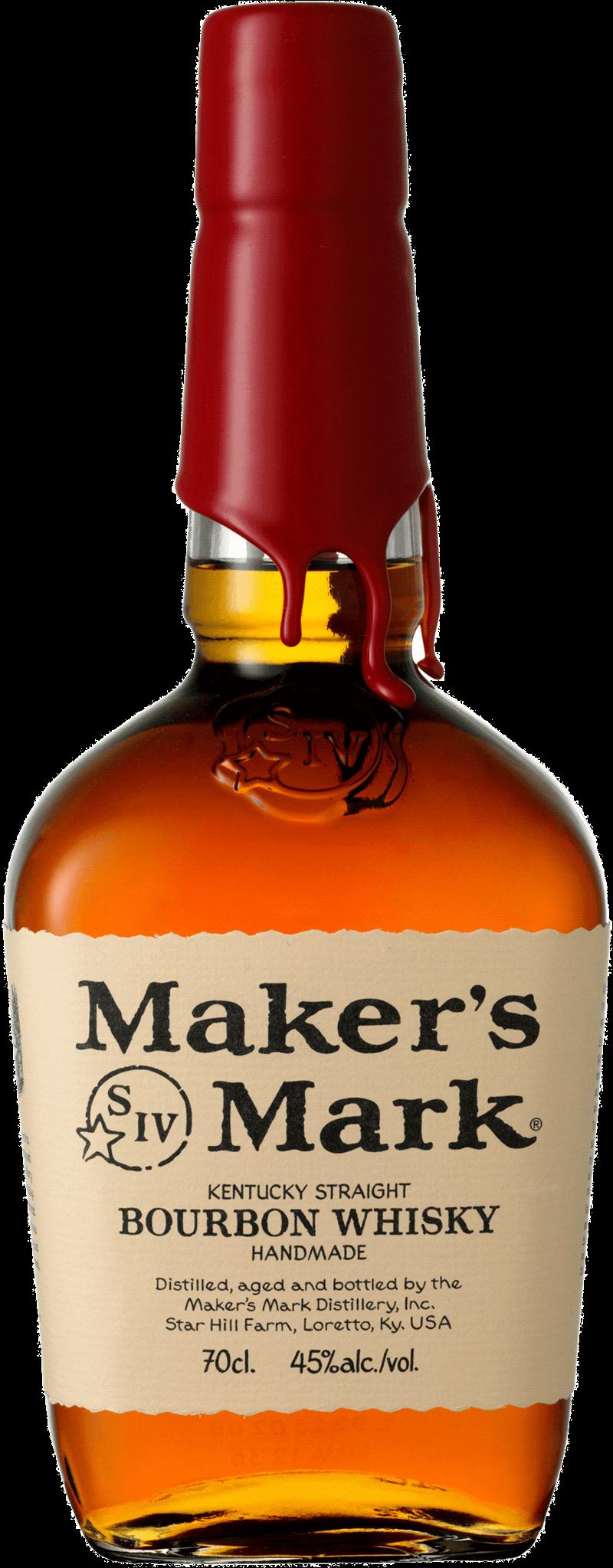 Maker's Mark . En Whisky av typen Bourbon i en 700 Flaska från Kentucky