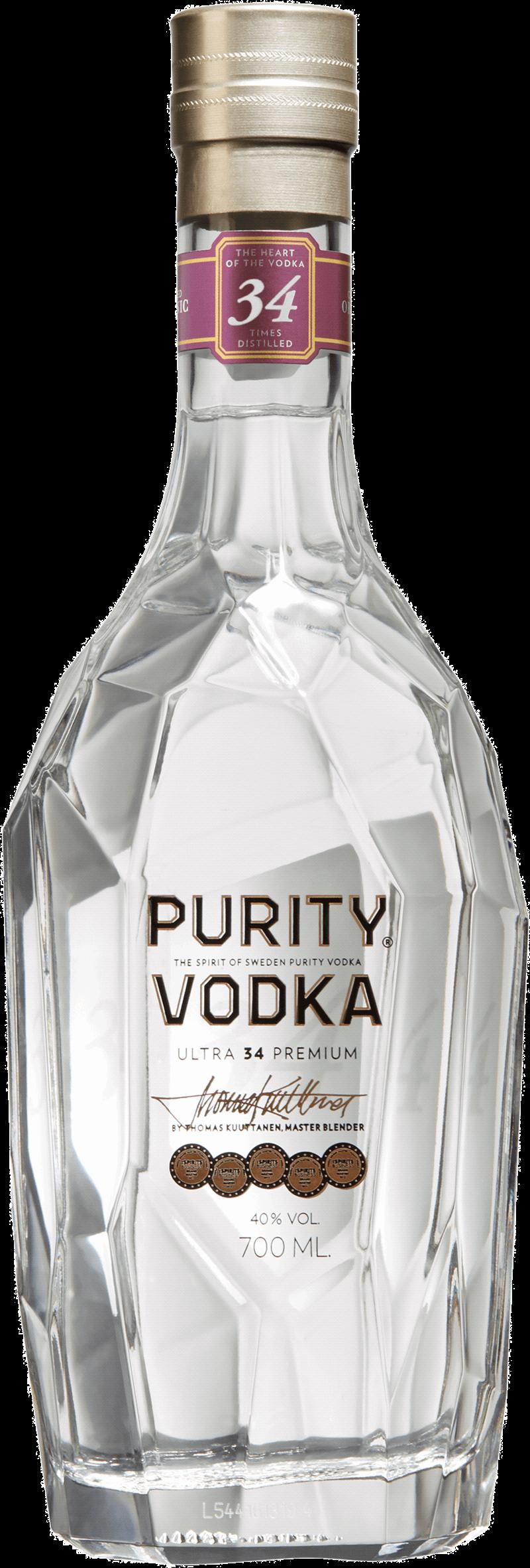 Purity Vodka Ultra 34 Premium. En Vodka och Brännvin av typen Vodka i en 700 Flaska från Skåne län