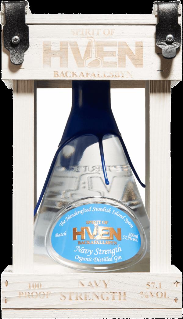 Spirit of Hven Navy Strength Organic Distilled Gin. En Gin och Genever av typen Gin i en 500 Flaska från Skåne län
